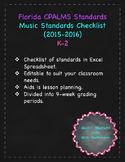 Florida Music Standards Checklist K-2