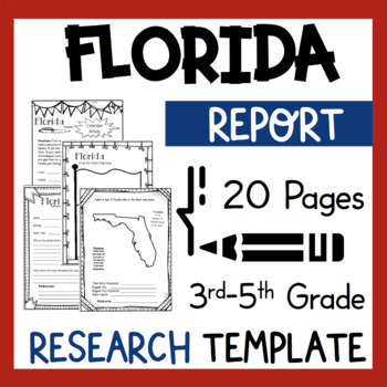 Florida State Research Report Project Template with bonus