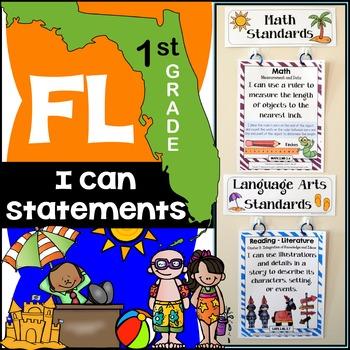 Florida Standards - I Can Statements Math & ELA (1st Grade
