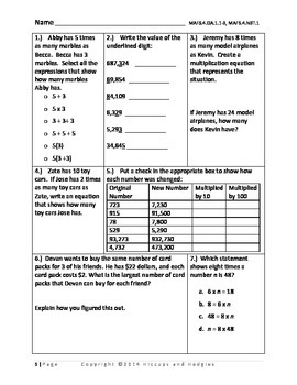 Florida Standards Assessment Practice- FSA style questions