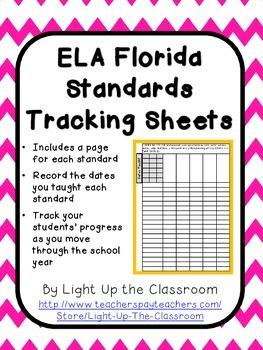 Florida Standards ELA Tracking Sheets (2nd Grade)- Marzano