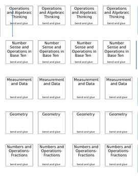 Florida Standards MATH domain tabs for Interactive Notebooks