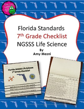Florida Standards NGSSS Life Science 7th Grade Checklist L