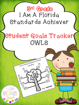 Student Goal Tracker Form Owl Theme 3rd Grade