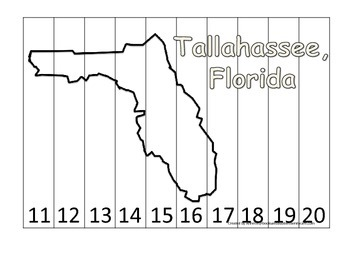 Florida State Capitol Number Sequence Puzzle 11-20.  Geogr