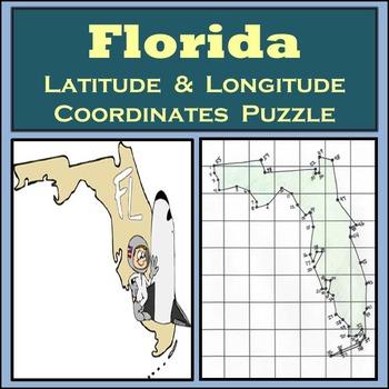 Florida State Latitude and Longitude Coordinates Puzzle -