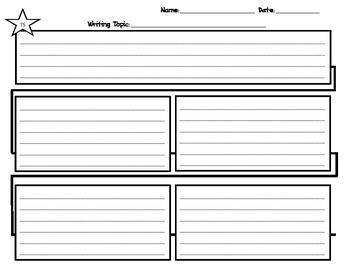 Flow Map Writing Graphic Organizer