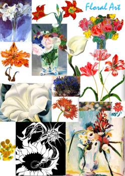 Flower Art ~ Floral Art ~ Major Artists ~ FREE POSTER ~ Ar