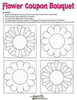 Helping Others: Flower Coupon Bouquet.