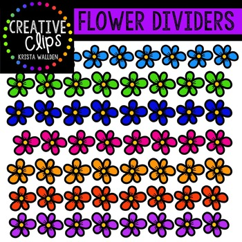 Flower Dividers {Creative Clips Digital Clipart}