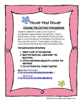 Flower Flour Power: Choose the Right Homophones
