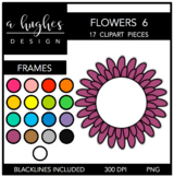 Flower Frames 6 {Graphics for Commercial Use}
