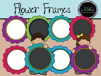 Flower Frames - Digital Clipart