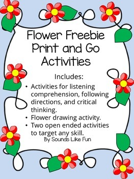 Flower Freebie Print and Go Activities
