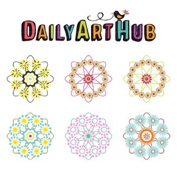 Flower Galore Clip Art - Great for Art Class Projects!