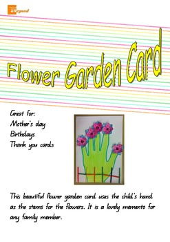 Flower Garden Card - Mothers Day, Fathers Day, Birthday, T
