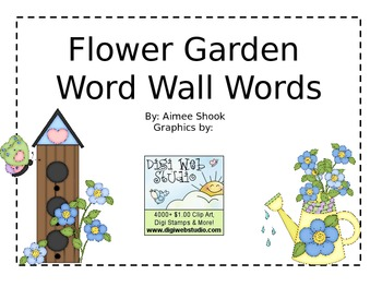 Flower Garden Word Wall Words