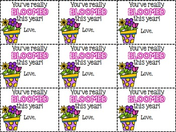 Flower Gift Tags