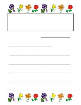 Flower Letter Writing Paper