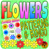 Flower Centers Spring Activities Bingo and Patterns Garden