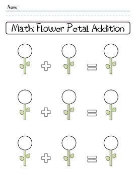 Flower Petal Addition Worksheet