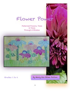 Flower Power - Pattern and Line - Visual Art Lessons -  1s