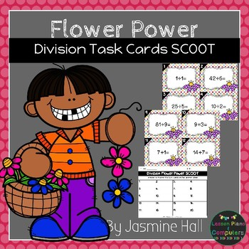 Flower Power Division Task Cards SCOOT