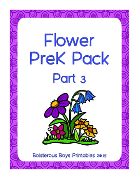 Flower PreK Printable Learning Pack - Part 3