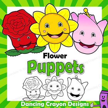 Flower Craft Activity | Paper Bag Puppet Templates | Garden