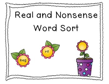 Flower Real and Nonsense Word Sort