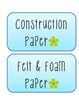 Flower Themed Classroom Labels