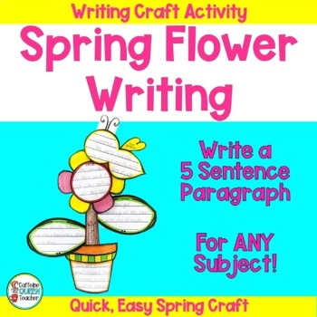 Writing Craft Activity For End of Year - Mother's Day - Spring