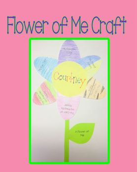 Flower of me Craft for Spring