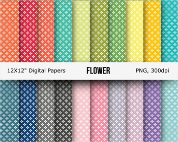 Flower seamless digital papers or background