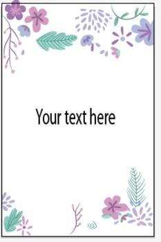 Flower template INVITATION