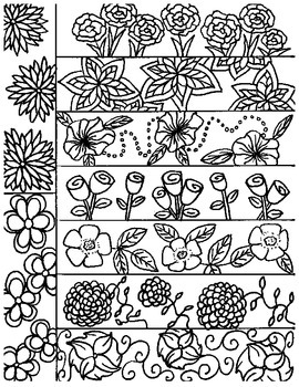 Spring Flower-themed Bookmarks