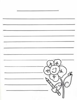 Flower with pencil STATIONERY