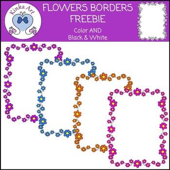 Flowers Borders FREEBIE