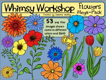 Spring Flowers Clip Art (53 images) Whimsy Workshop Teaching
