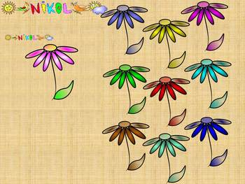 Flowers - Classroom Decor - Clip Art - Personal or Commercial Use
