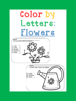 Flowers- Color by letters