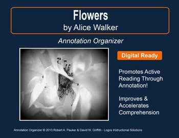 """Flowers"" by Alice Walker: Annotation Organizer"