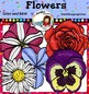 Flowers clip art. Color and B&W