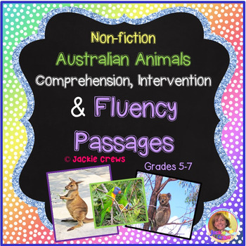 Fluency: Australian Animals/Nonfiction Comprehension