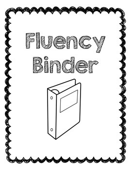 Fluency Binder Cover Page