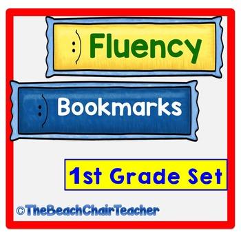Fluency Bookmark Set First Grade Practice & Assessment - M
