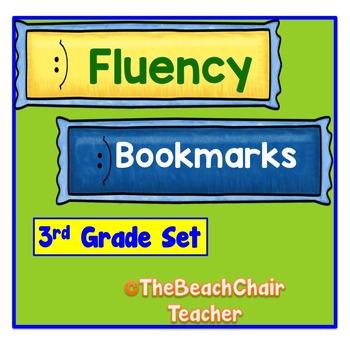 Fluency Bookmarks 3rd Third Grade Practice & Assessment -