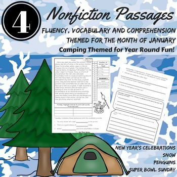 Fluency Passages CAFE ~ January Fluency, Comprehension, Vo