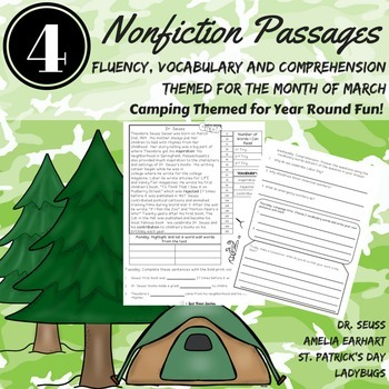 Fluency Passages CAFE MARCH Fluency, Vocabulary, Comprehension