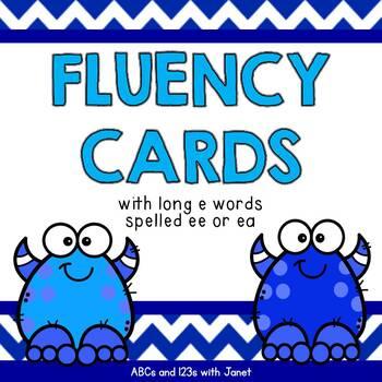 Fluency Cards {long e words}